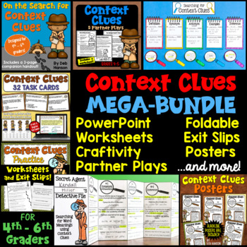 Context clues 6th teaching resources teachers pay teachers context clues bundle of activities 4th 5th and 6th grade fandeluxe Gallery