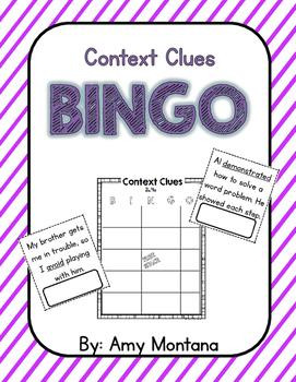 Context Clues Bingo