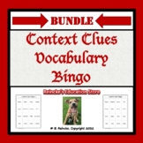 Context Clues Vocabulary Bingo Games Package (pre-made)