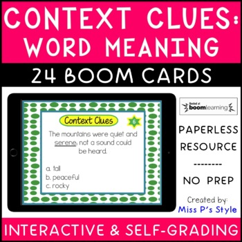 Context Clues digital Boom Cards