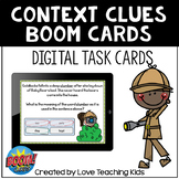 Context Clues Boom Cards Digital Task Cards for Distance Learning