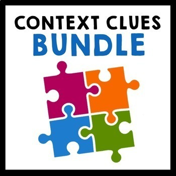 Context Clues Bundle {Task Cards, Exit Slips, Worksheets}
