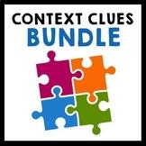Context Clues Bundle {Task Cards, Exit Slips, Worksheets}