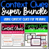 Reading Context Clues Super Bundle:  Slideshow and Task Ca