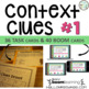 Context Clues Bundle | Task Cards, Scoot, and Assessment | What Am I? Game