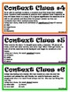 Context Clues Cards