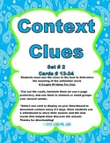 Context Clues Cards #2