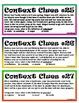 Context Clues Cards #3 (third set)