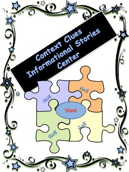 Context Clues Stories ELA Center or Whole Group