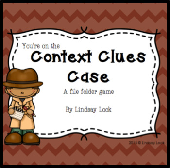 Context Clues Case File Folder Game