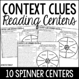 Context Clues Centers | 4th and 5th Grade Reading Spinner Centers