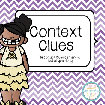 Context Clues Centers All Year Long #halfoffhalftime