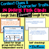 Context Clues/ Character Trait Task Cards Using Google Forms: A Digital Resource