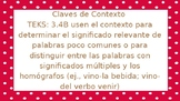 Context Clues/ Claves de Contexto