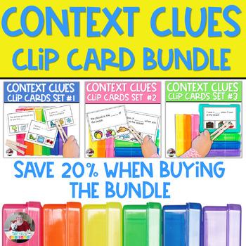 Context Clues Clip Card Bundle- Includes Taryn's Unique Learning #1 Best Seller