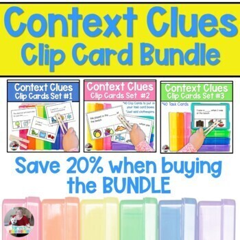 Context Clues Clip Card Bundle- Includes Taryn's Unique Learning #1 Best Seller
