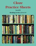 Context Clues – Cloze Practice Sheets – Level B (Reading L