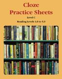 Context Clues – Cloze Practice Sheets – Level C (Reading L