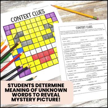 Context Clues Color by Number Bundle
