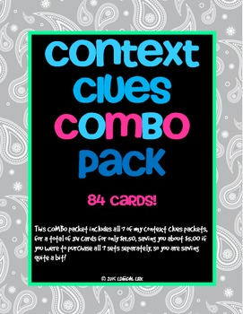 Context Clues Combo Packs 1-7