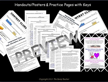 Context Clues Common Core Lessons, Practice, and Assessments