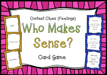 Context Clues Who Makes Sense? Card Game