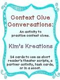 Context Clue Conversation Scripts (Reader's Theater, scoot