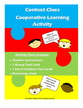 Context Clues Cooperative Learning Activity