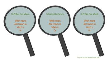 Context Clues- Definition Clue Words