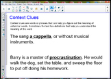 Context Clues - Definitions and Examples SmartBoard Lesson