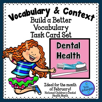 Context Clues Task Cards Dental Health Themed Vocabulary