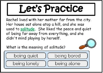 Context Clues: Determine the Meaning :Digital Task Cards with Boom Learning