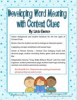 Context Clues - Developing Word Meaning with Context Clues