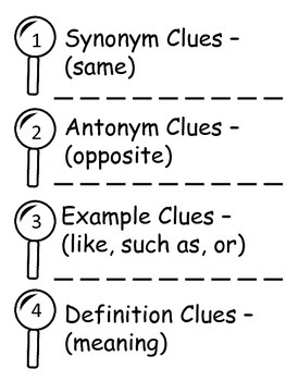 Context Clues - Different Types - Multiple Activities - CCRS