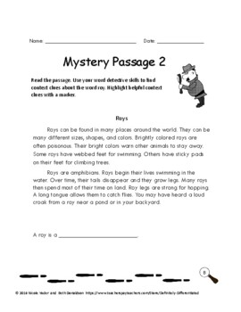 Context Clues - Differentiated Nonfiction Mystery Passages 2nd Edition