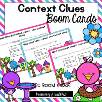 Context Clues Digital Boom Task Cards
