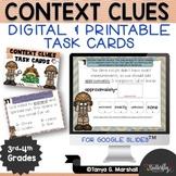 Context Clues Digital Task Cards for Google Classroom Dist