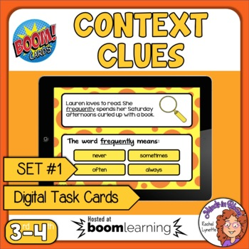 Context Clues Digital Task Cards on Boom Learning! Set 1 Grades 3-4