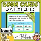 Context Clues Boom Cards Digital Task Cards Set 2 Grades 4
