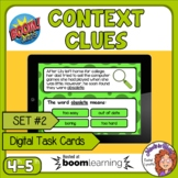 Context Clues Digital Task Cards on Boom Learning! Set 2 G