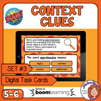 Context Clues Digital Task Cards on Boom Learning! Set 3 Grades 5-6