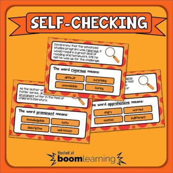 Context Clues Boom Cards Digital Task Cards Set 3 Grades 5-6 Distance Learning