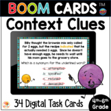 Context Clues Distance Learning BOOM CARDS™ | Task Cards &