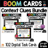 Context Clues Distance Learning BOOM CARDS™ Task Cards BUNDLE