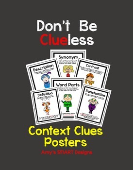 Context Clues: Don't be Clueless Posters