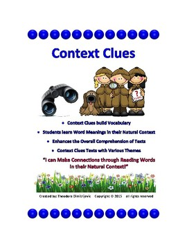 Context Clues: Examining Texts - Package of 9 Texts