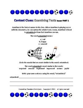 Context Clues: Examining Texts - Soccer Part 1