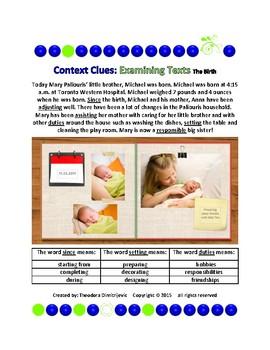Context Clues: Examining Texts - The Birth