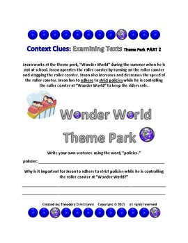 Context Clues: Examining Texts - The Theme Park - Part 1, Part 2 and Part 3