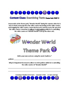 Context Clues: Examining Texts - The Theme Park Part 2